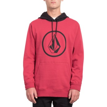 Volcom Burgundy Heather Stone Red Hoodie Sweatshirt