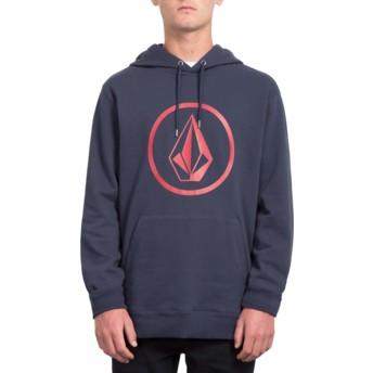 Volcom Dark Navy Stone Navy Blue Hoodie Sweatshirt