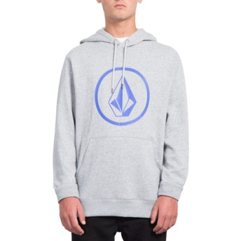 Volcom Heather Grey Stone Grey Hoodie Sweatshirt