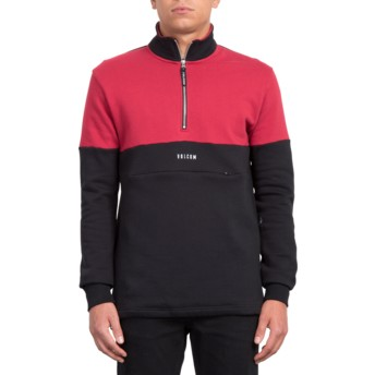 Volcom Black Rixon Black and Red Sweatshirt