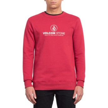 Volcom Burgundy Heather General Stone Red Sweatshirt