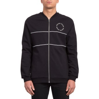 Volcom Black Thrifter Black Zip Through Sweatshirt
