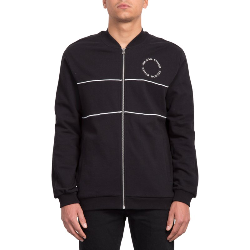 volcom-black-thrifter-black-zip-through-sweatshirt
