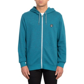 Volcom Navy Litewarp Navy Blue Zip Through Hoodie Sweatshirt