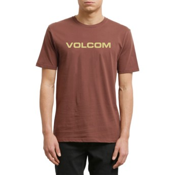 Volcom Bordeaux Brown Crisp Euro Maroon T-Shirt