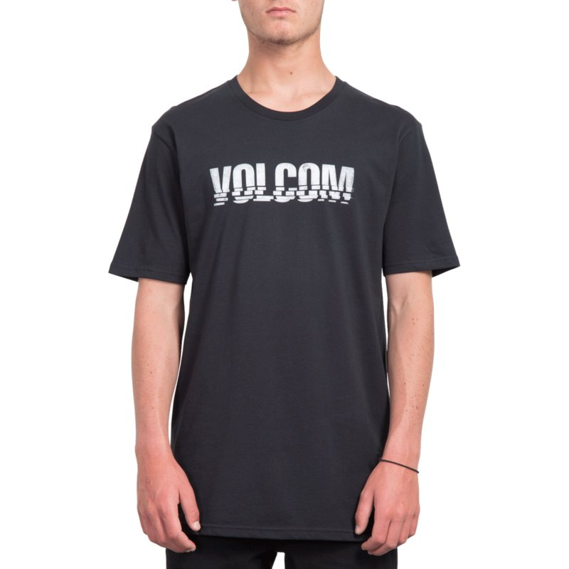 c55cda45 Volcom Black Chopped Edge Black T-Shirt: Shop Online at Caphunters