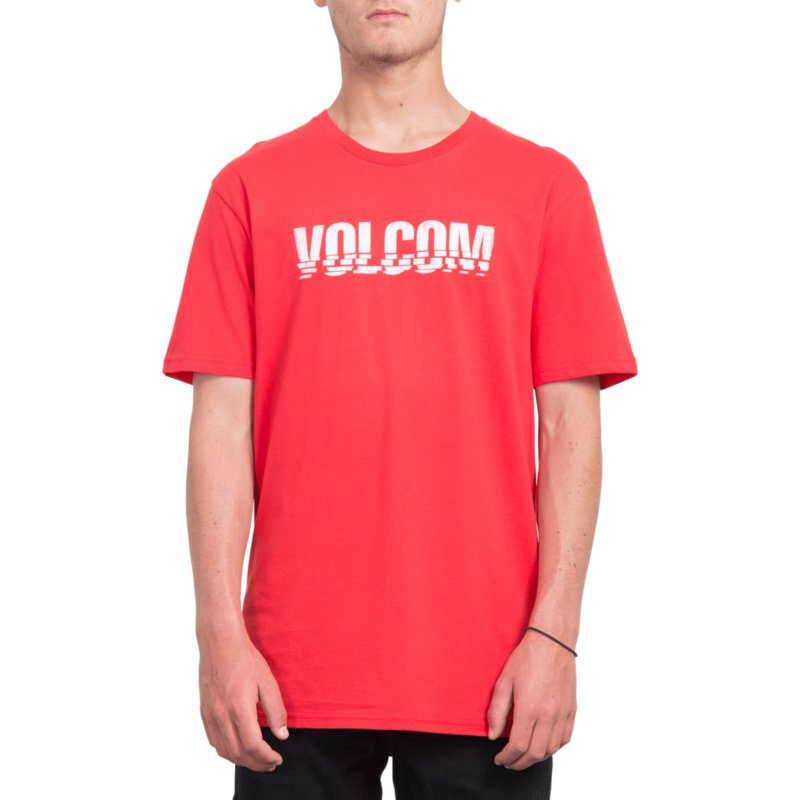 1c89903b Volcom True Red Chopped Edge Red T-Shirt: Shop Online at Caphunters