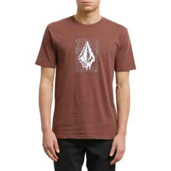 Volcom Bordeaux Brown Drippin Out Maroon T-Shirt