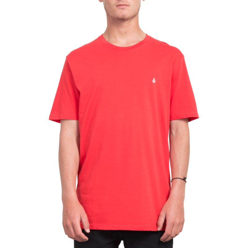 volcom-true-red-stone-blank-red-t-shirt