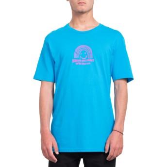 Volcom Cyan Blue Ozzy Rainbow Blue T-Shirt