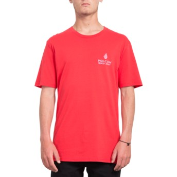 Volcom True Red Peace Is Progess Red T-Shirt