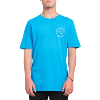 Volcom Cyan Blue Chop Around Blue T-Shirt