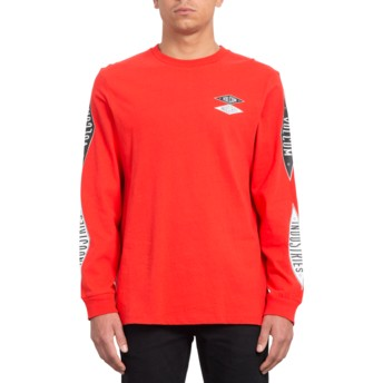 Volcom Bright Red V.I. Red Long Sleeve T-Shirt