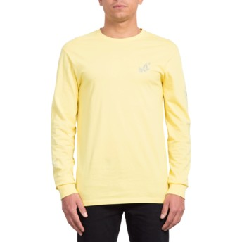Volcom Yellow Lopez Web Yellow Long Sleeve T-Shirt