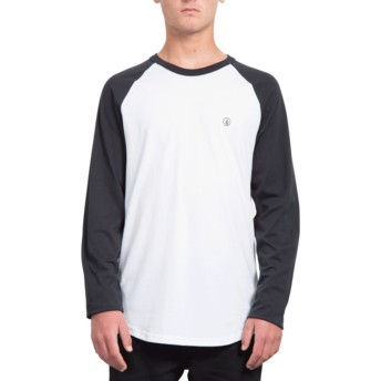 Volcom Black Pen White and Black Long Sleeve T-Shirt