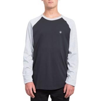 Volcom Heather Grey Pen Black and Grey Long Sleeve T-Shirt