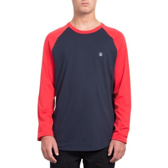 Volcom True Red Pen Black and Red Long Sleeve T-Shirt