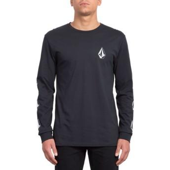 Volcom Logos Black Deadly Stone Black Long Sleeve T-Shirt