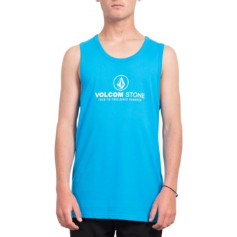 Volcom Cyan Blue Super Clean Blue Sleeveless T-Shirt