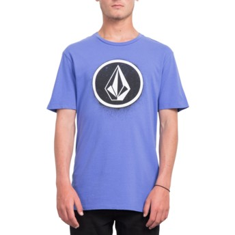 Volcom Dark Purple Spray Stone Purple T-Shirt