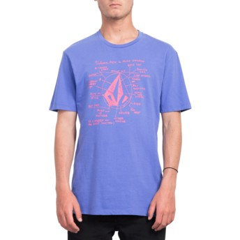 Volcom Dark Purple Diagram Purple T-Shirt