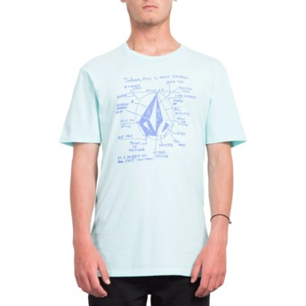 Volcom Pale Aqua Diagram Blue T-Shirt