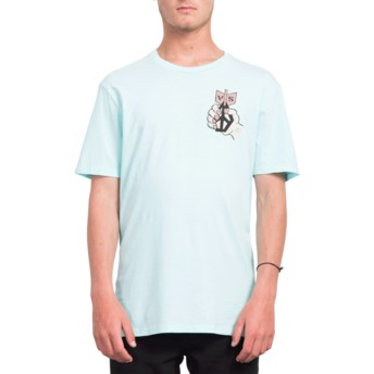 Volcom Pale Aqua Check Two Blue T-Shirt