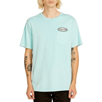 Volcom Pale Aqua Oval Patch Blue T-Shirt