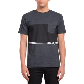 Volcom Three Heather Black Quarter Black T-Shirt