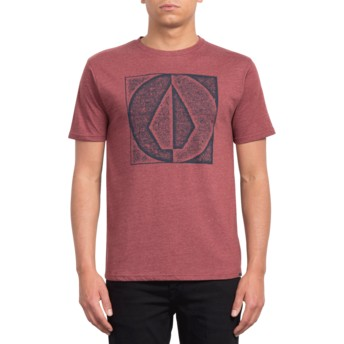 Volcom Crimson Stamp Divide Red T-Shirt