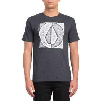 Volcom Heather Black Stamp Divide Black T-Shirt