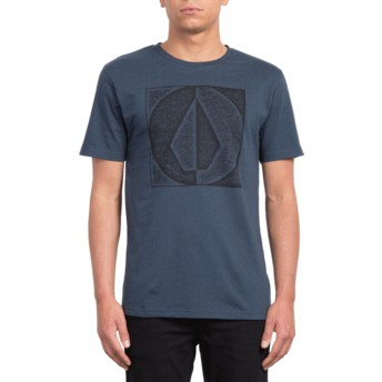 Volcom Indigo Stamp Divide Navy Blue T-Shirt