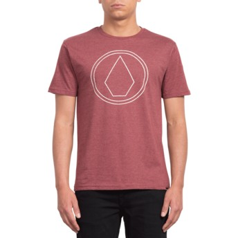 Volcom Crimson Pin Stone Red T-Shirt