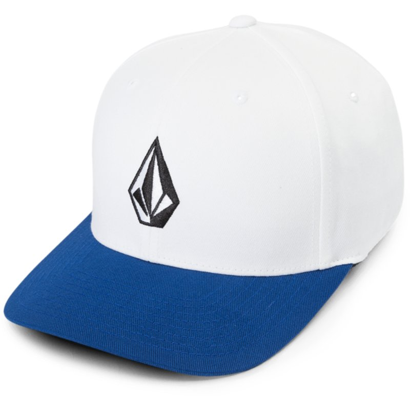 volcom-curved-brim-blue-plum-full-stone-xfit-white-fitted-cap-with-blue-visor