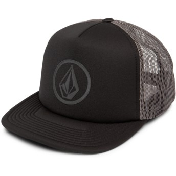 Volcom Asphalt Black Full Frontal Cheese Black Trucker Hat