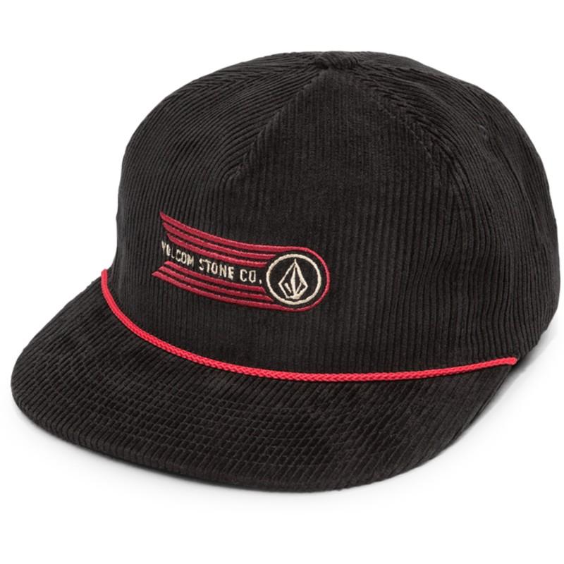e5a84837bb0 Volcom Flat Brim Black Stone Glide Black Snapback Cap  Shop Online ...