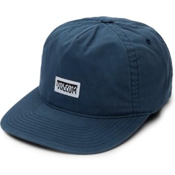 Volcom Flat Brim Deep Blue Fracture Blue Snapback Cap