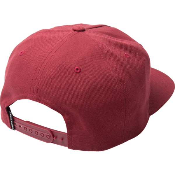 volcom-flat-brim-burgundy-righteous-red-snapback-cap