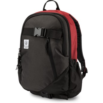 Volcom Burgundy Substrate Black and Red Backpack