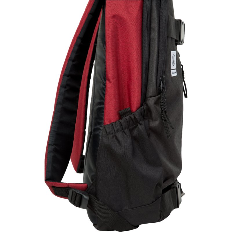 4582591dc Volcom Burgundy Substrate Black and Red Backpack: Shop Online at ...