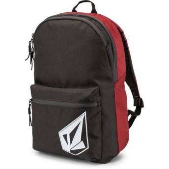 Volcom Burgundy Academy Black and Red Backpack