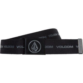 Volcom Black Combo Circle Web Black Belt