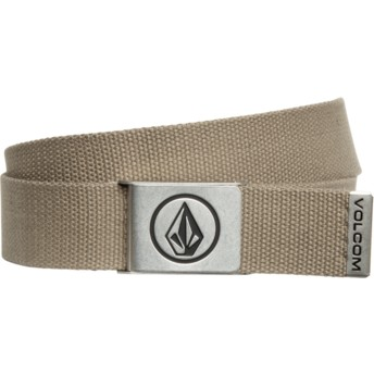 Volcom Dark Olive Circle Web Green Belt
