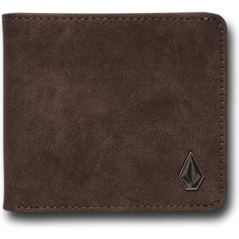 Volcom Dark Brown Slim Stone Brown Wallet