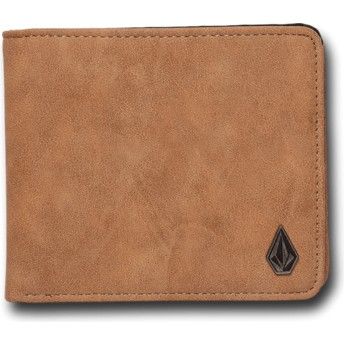 Volcom Camel Slim Stone Brown Wallet
