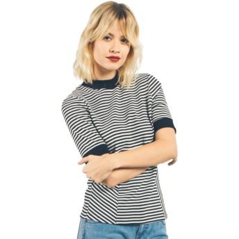 Volcom Black Midlight White and Black T-Shirt