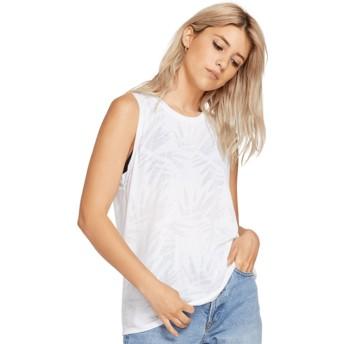 Volcom White Geo Arty White Sleeveless T-Shirt