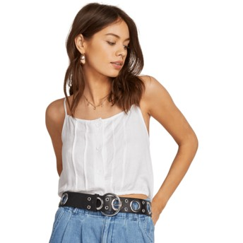 Volcom White Deep Tracks White Tank Blouse