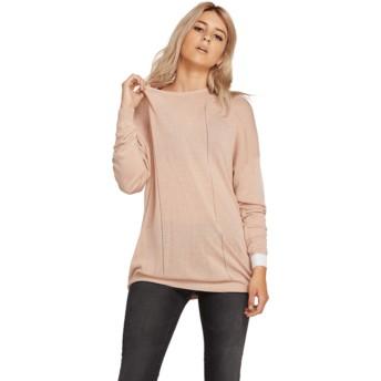 Volcom Mushroom Simply Stone Knit Pink Sweater