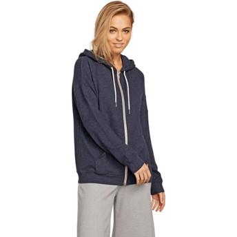 Volcom Sea Navy Lil Navy Blue Zip Through Hoodie Sweatshirt